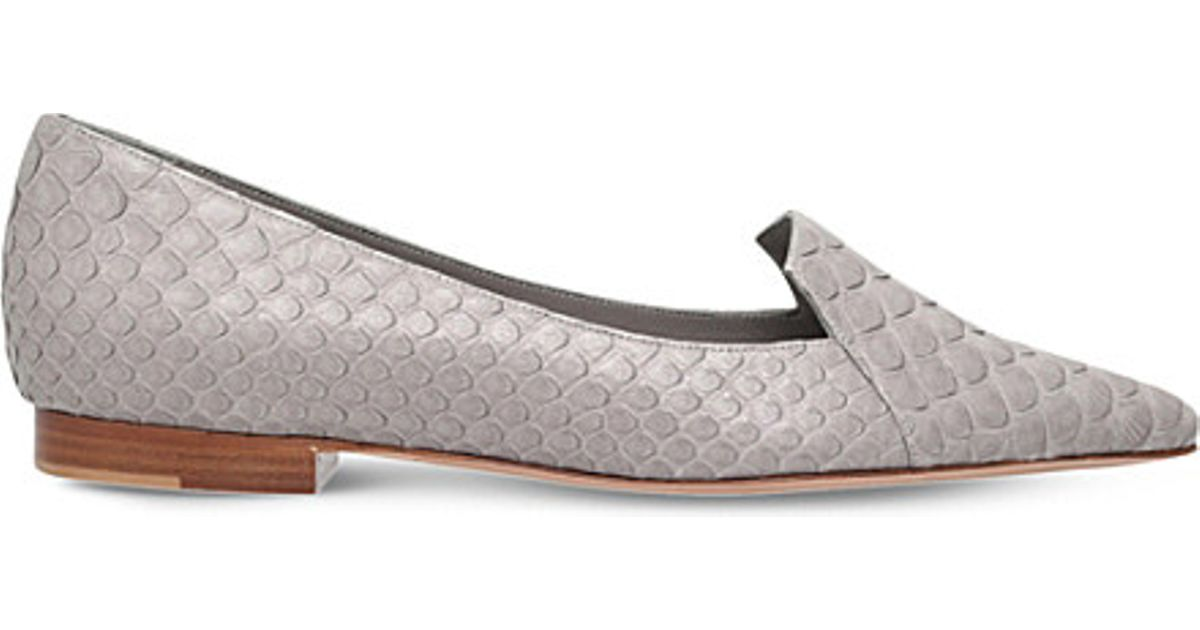 c8655f8f58 Gina - Gray Tennessee Python-leather Shoes - Lyst