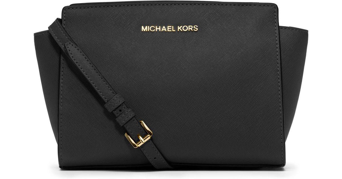 841031eee8ec Lyst - Michael Kors Selma Medium Messenger Bag in Black