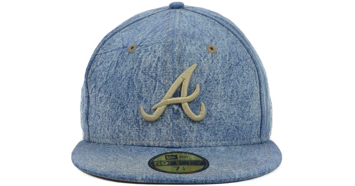 ... good lyst ktz atlanta braves mlb classic denim 59fifty cap in blue for  men 6a461 8f132 061f7369a5ff