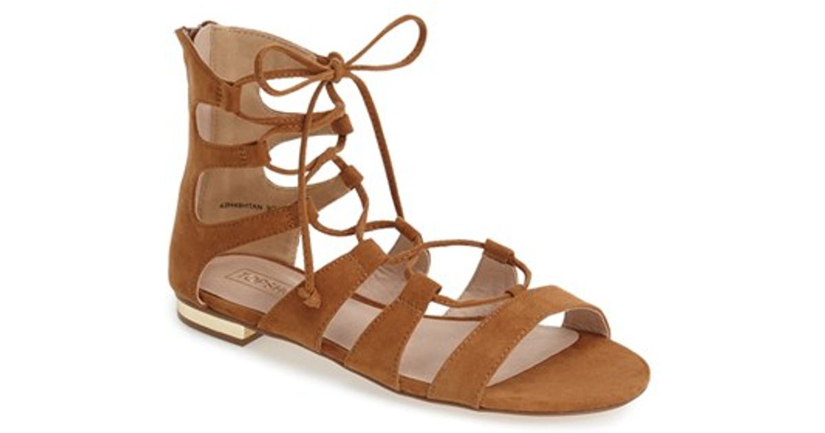 Lyst - TOPSHOP Lace-up Gladiator Sandal in Brown c5df12aee