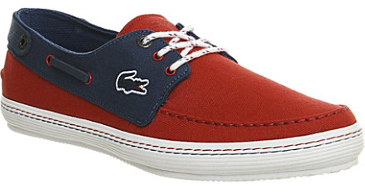 65c0ffb67708 ... Lacoste Sumac Canvas Boat Shoes - For Men in Blue for Men - Lyst ...
