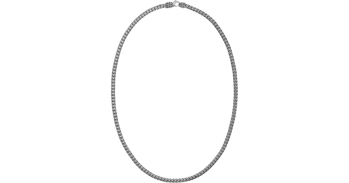 John Hardy Classic Chain Silver Slim Necklace, 16L