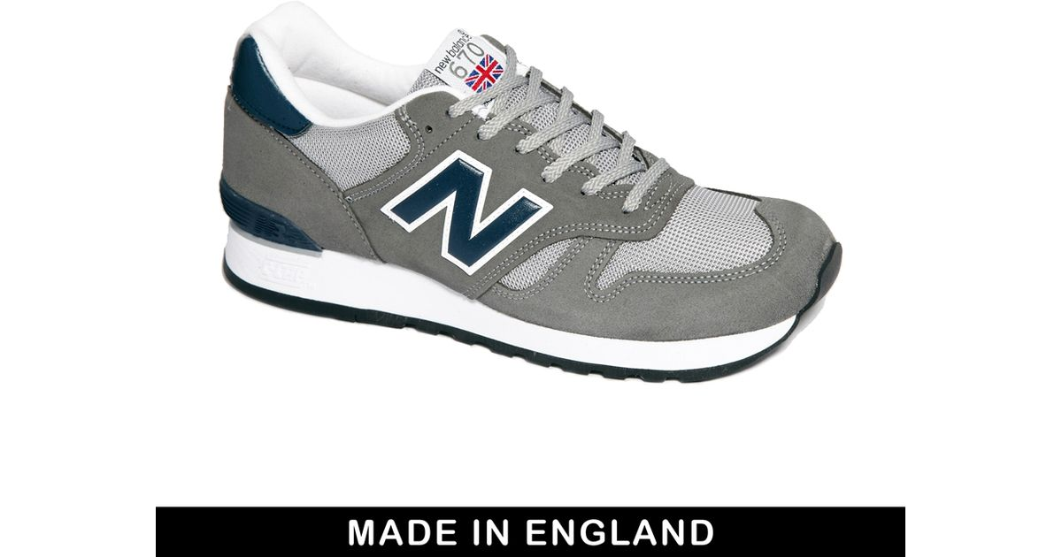 4c9bd1e6ca8f Lyst - New Balance Made in England 670 Sneakers in Gray for Men
