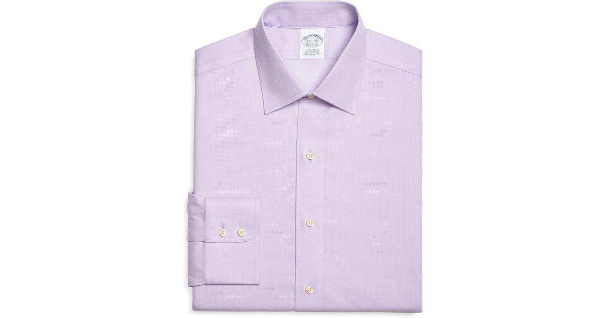 Brooks brothers non iron madison fit royal oxford dress for Royal purple mens dress shirts