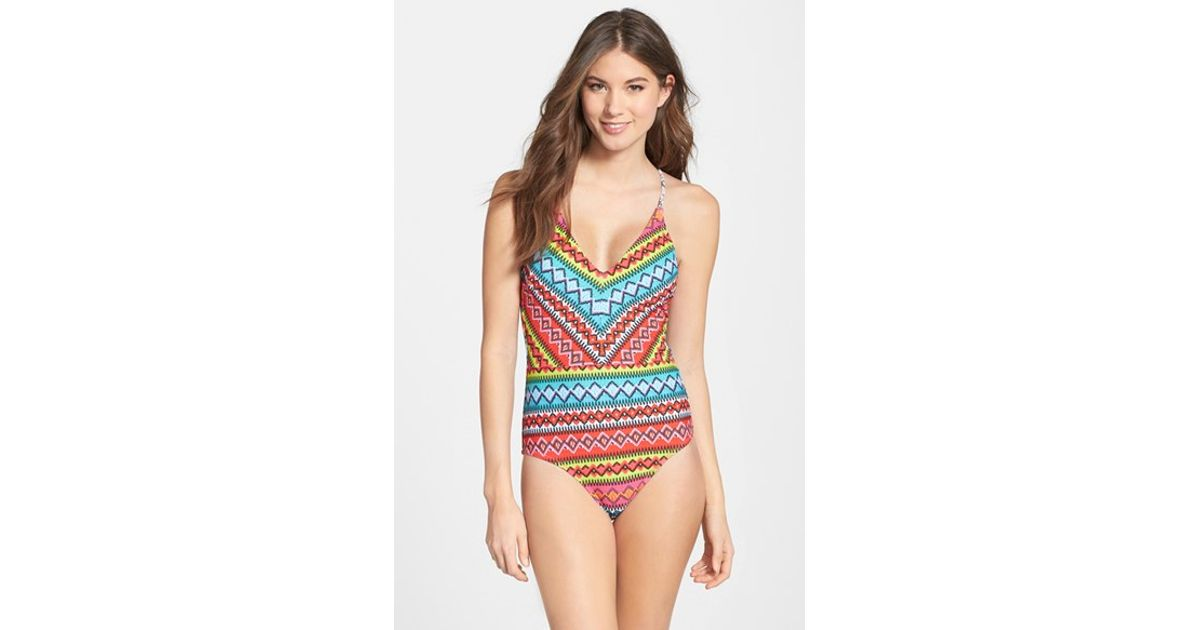b27fc24d20 Lyst - Nanette Lepore  bayamo Goddess  One-piece Swimsuit in Brown