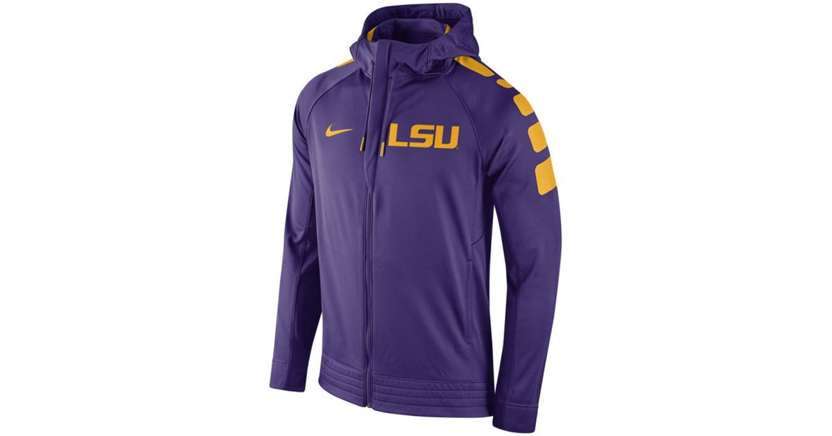 df88d89ea8d3 Lyst - Nike Men s Lsu Tigers Elite Stripe Basketball Performance Full-zip  Hoodie in Purple for Men