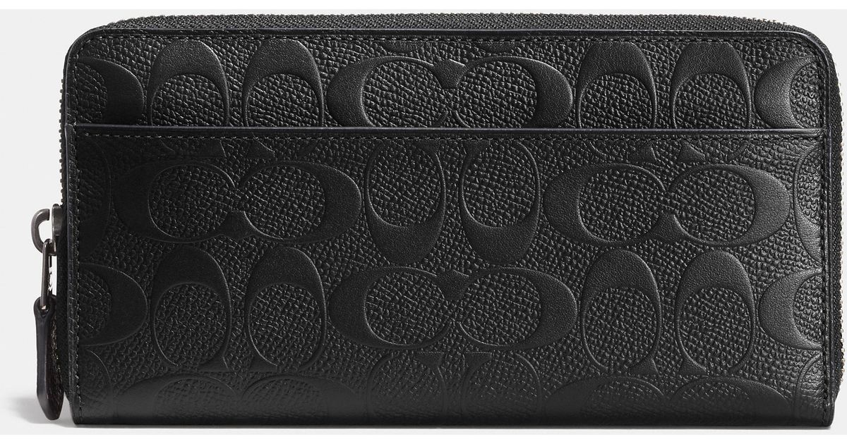 da360e29ece6 Lyst - COACH Accordion Wallet In Signature Crossgrain Leather in Brown for  Men