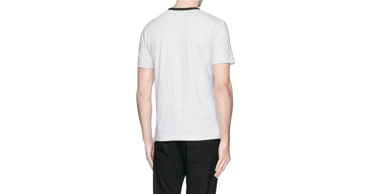 Clothes Ringer 2015 ~ Rag bone ringer contrast collar t shirt in gray for