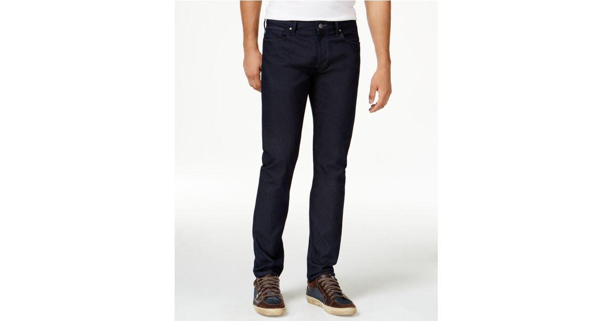 armani jeans men 39 s tasche slim fit blue jeans in blue for. Black Bedroom Furniture Sets. Home Design Ideas