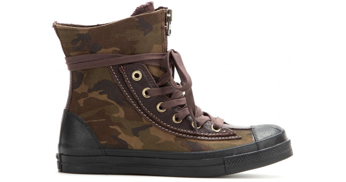 0f399f2a46e572 Lyst - Converse Chuck Taylor All Star Combat Boot High-Top Sneakers in Brown
