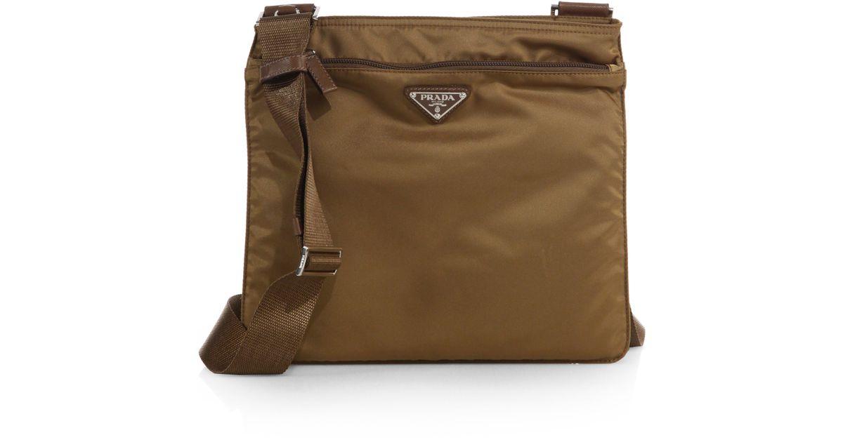 Lyst - Prada Vela Crossbody Bag in Brown for Men 026edfaa8babf