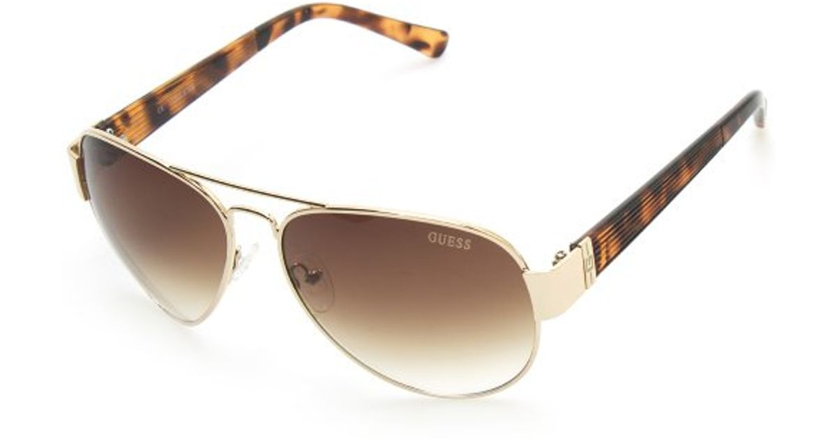 Men s Round Gold Frame Sunglasses : Guess Round Frame Mens Sunglasses in Gold for Men Lyst