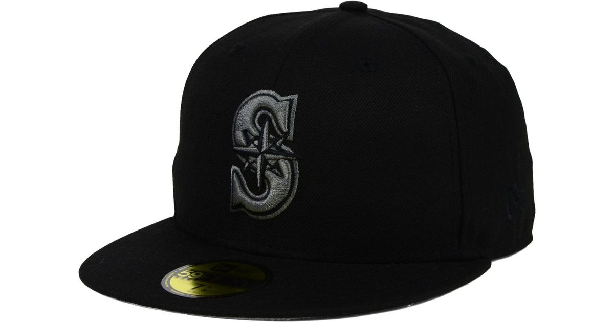 reputable site e0c0d fc1e7 ... new style lyst ktz seattle mariners american patch redux 59fifty cap in  black for men d112c