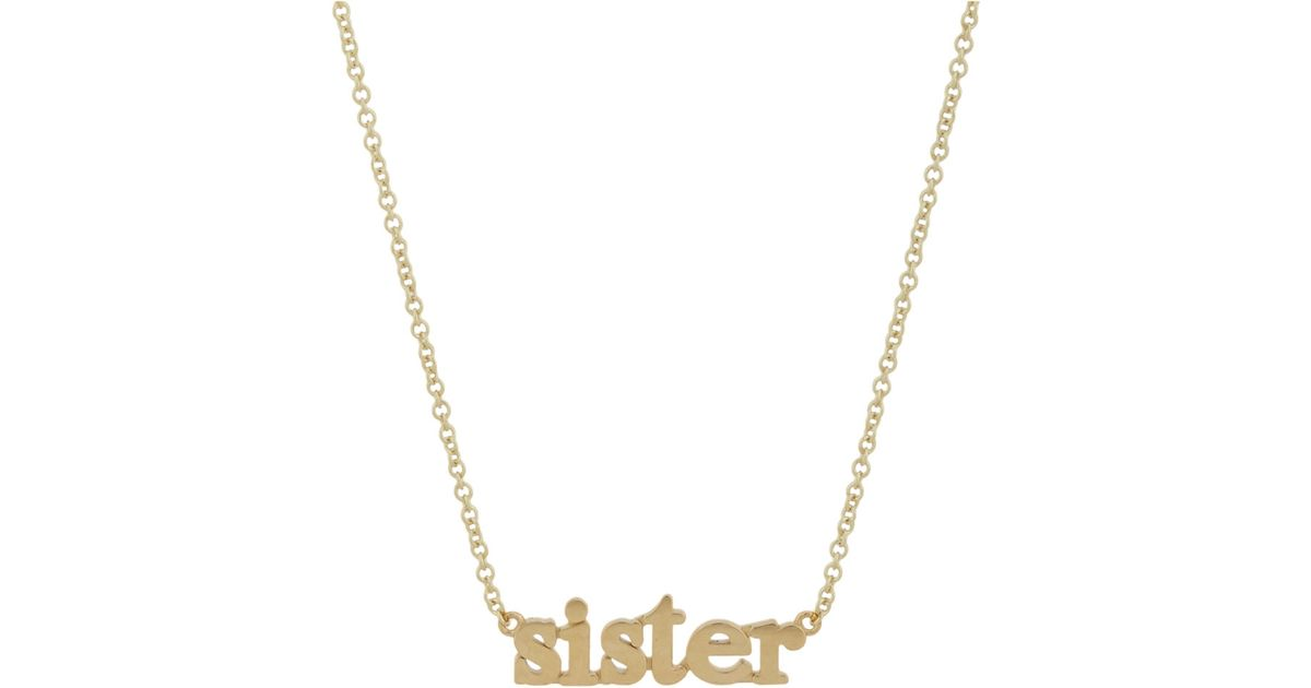 Jennifer meyer gold sister pendant necklace in metallic lyst aloadofball Image collections