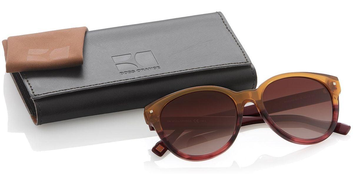 4949c324e286ae BOSS Orange Graduated Colour Wayfarer Sunglasses S in Brown - Lyst