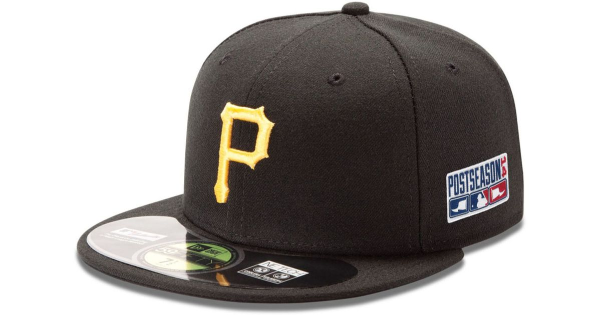 cheaper 57393 82da4 Lyst - KTZ Pittsburgh Pirates Postseason Ac Patch 59fifty Cap in Black for  Men