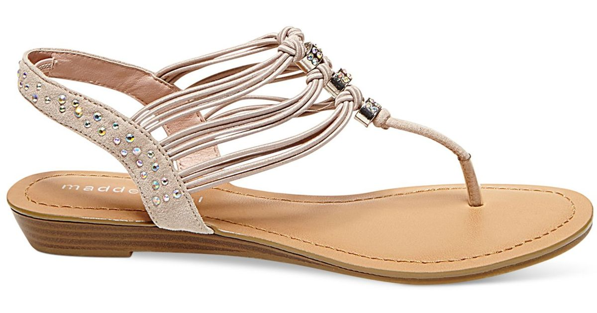 5588287f3 Lyst - Madden Girl Thrill T-strap Flat Thong Sandals in Pink