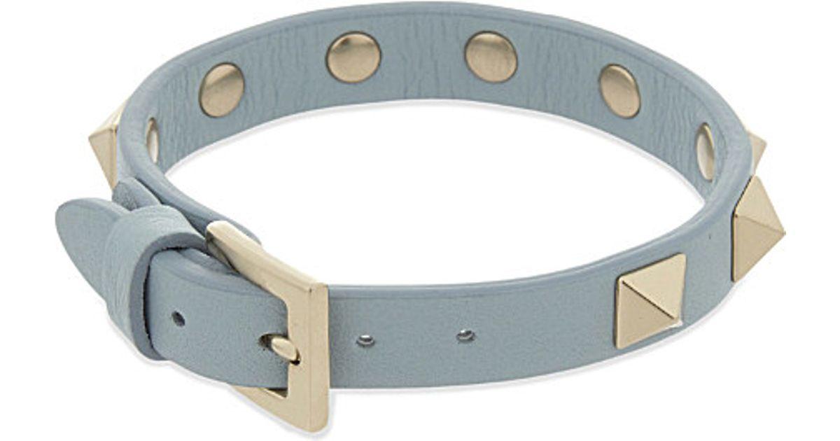 Valentino Garavani Rockstud bracelet - Blue Valentino Yk9hFh7Es9