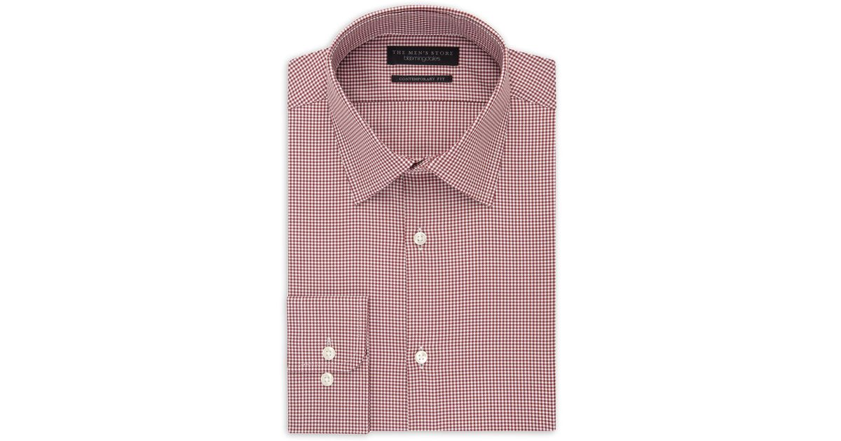 63c2bbe5a7 Lyst - Bloomingdale s Small Check Regular Fit Dress Shirt in Red for Men