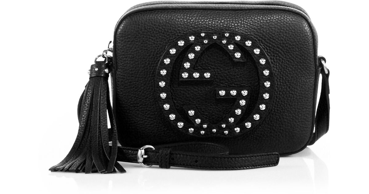 4291ee75cf8b Lyst Gucci Soho Small Studded Leather Disco Bag In Black