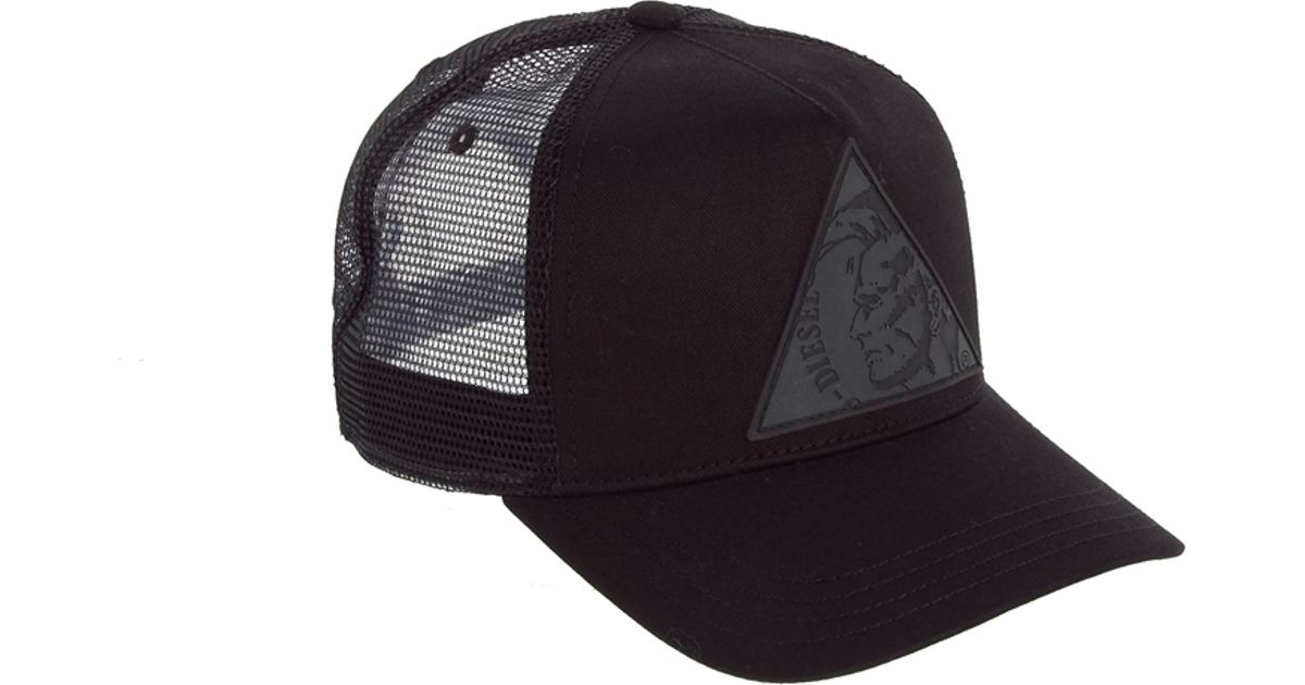 1e2f691e563 Lyst - DIESEL Colett Triangle Trucker Cap in Black for Men
