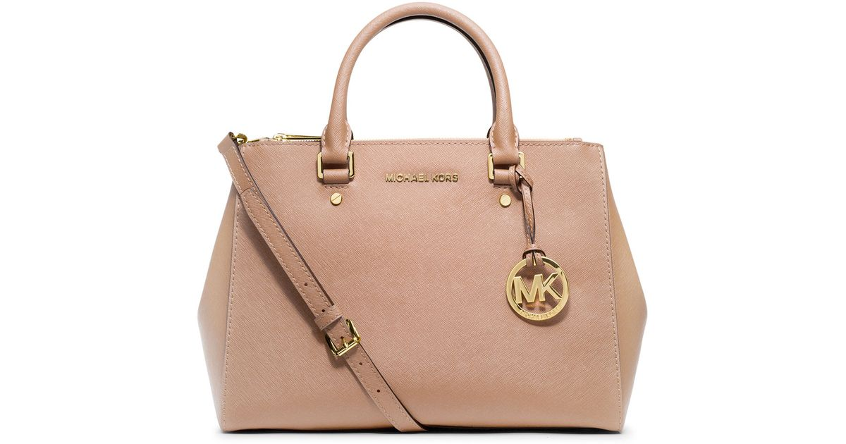 d186500e5fc357 ... sweden lyst michael michael kors sutton medium satchel bag in pink  56093 75763