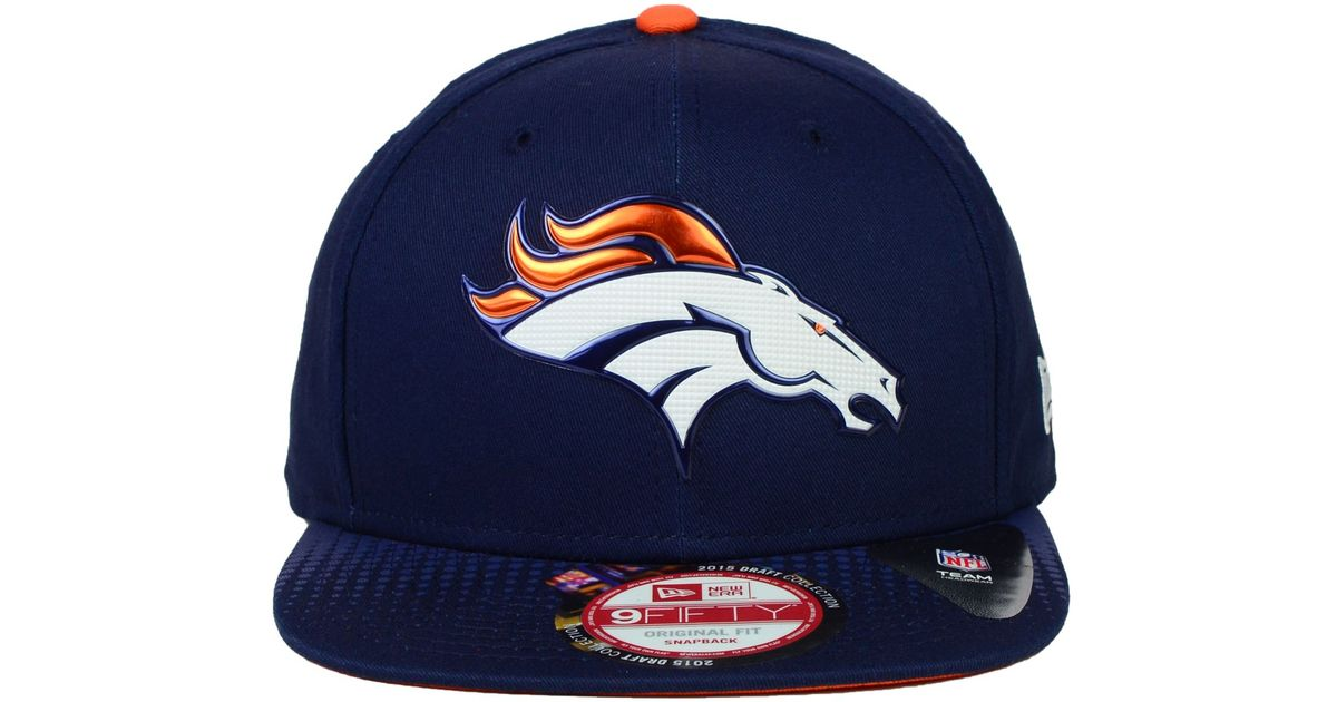 Lyst - KTZ Denver Broncos 2015 Nfl Draft 9fifty Snapback Cap in Blue for Men 35b33b64f4e