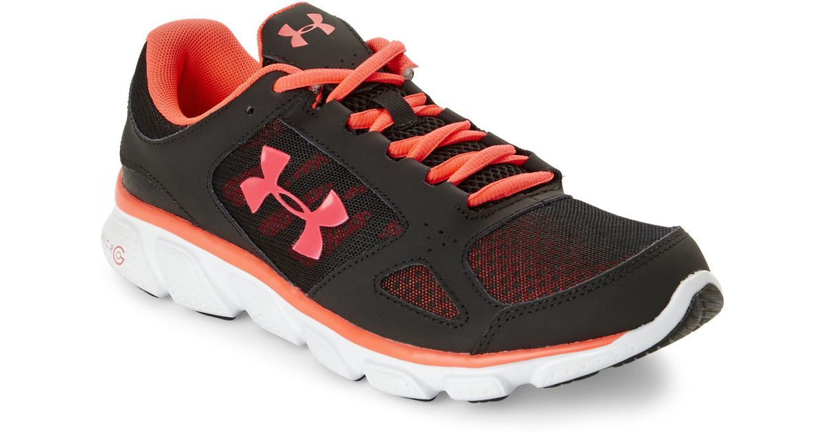 Lyst - Under Armour Black   Neon Rose Micro G Assert V Sneakers in Pink for  Men 3db5bcffb5a