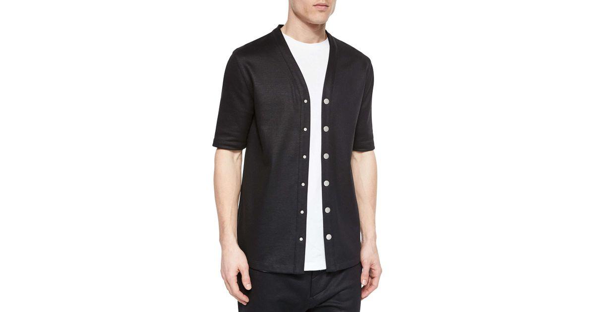 Helmut Lang Cotton Button Down Baseball Jersey Shirt In