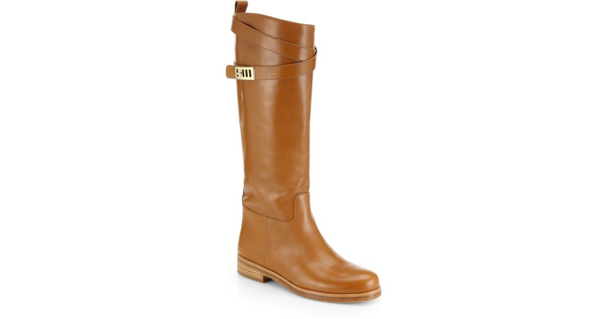 ea8937d13381 Lyst - Michael Kors Brynlee Leather Knee-High Boots in Brown