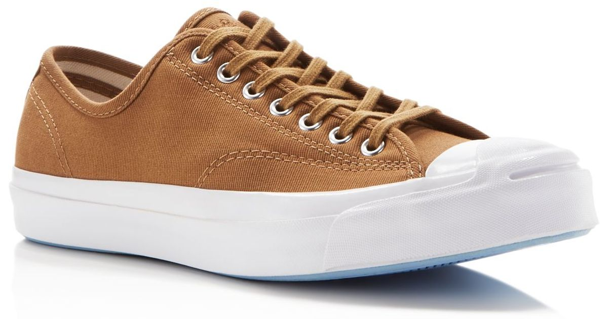 8e7dea2abfbd Converse Jack Purcell Signature Jungle Cloth Sneakers in Brown for Men -  Lyst