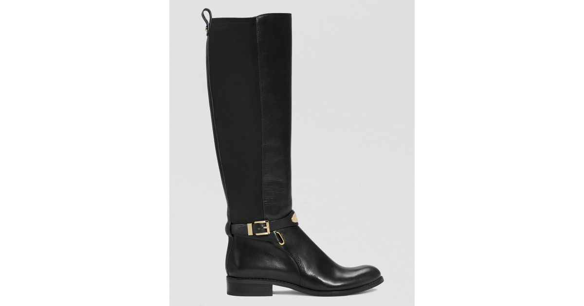 4f65d0b2d27 Lyst - MICHAEL Michael Kors Tall Boots - Arley Logo Plaque in Black