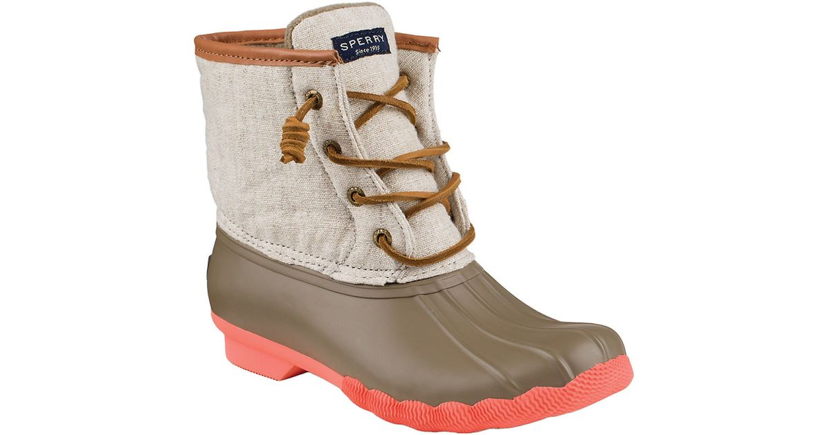 Sperry Top Sider Saltwater Duck Boots In Natural Lyst