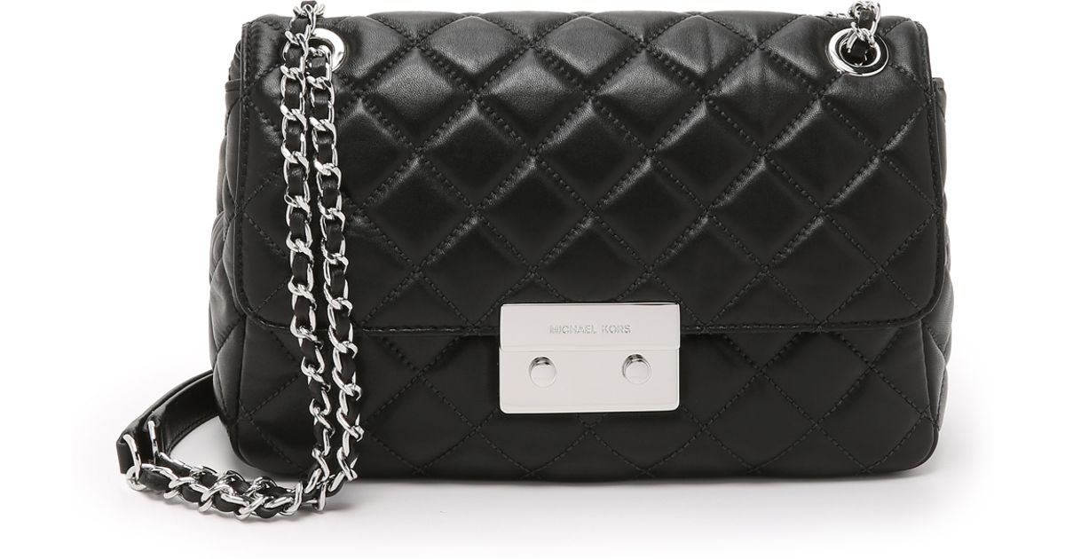 479c6c655e Lyst - MICHAEL Michael Kors Sloan Large Chain Shoulder Bag - Black in Black