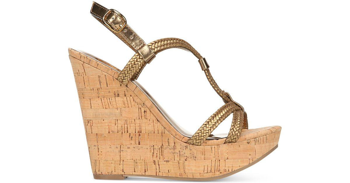 carlos by carlos santana barby cork wedge sandals in