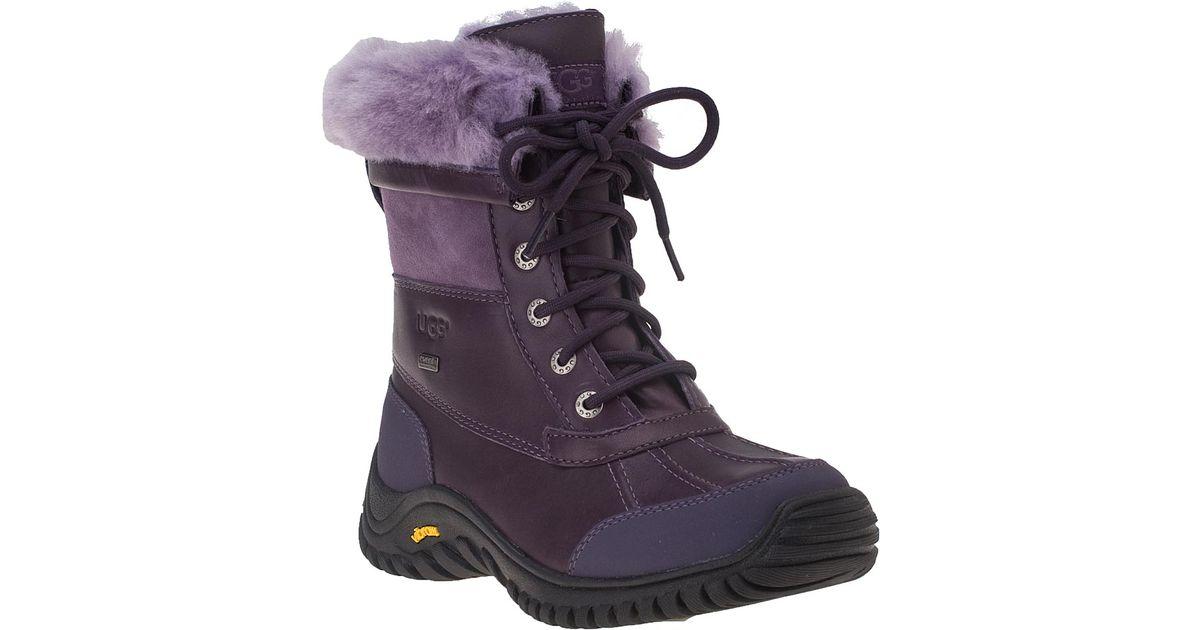 Ugg Adirondack Ii Snow Boot Blackberry Wine Leather In