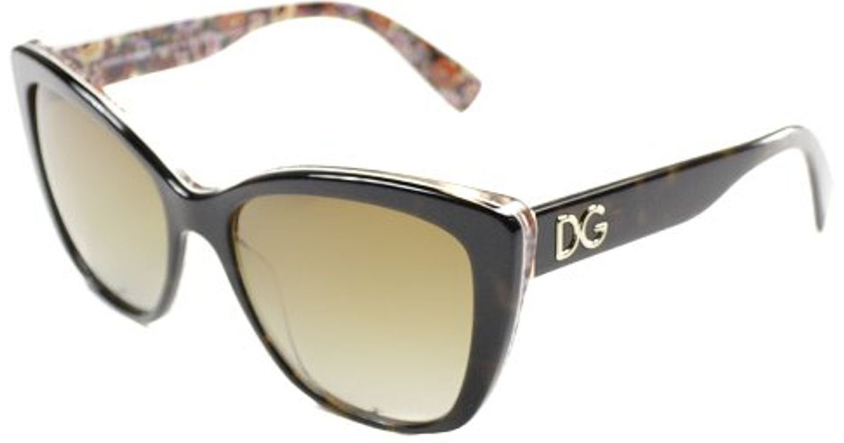 d537a05063b4 Lyst - Dolce   Gabbana Dolce And Gabbana Dg 4216 2790t5 Top Havana On Mosaic  Cat-eye Plastic Sunglasses in Black