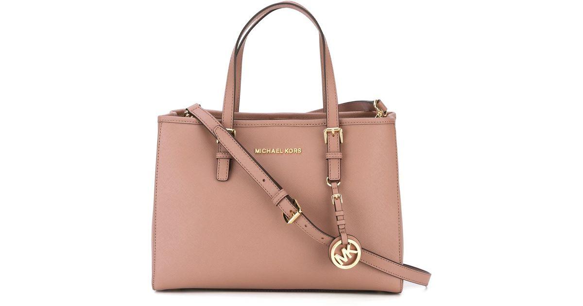 666bd73761d1 MICHAEL Michael Kors Jet Set Travel Medium Tote Bag in Pink - Lyst
