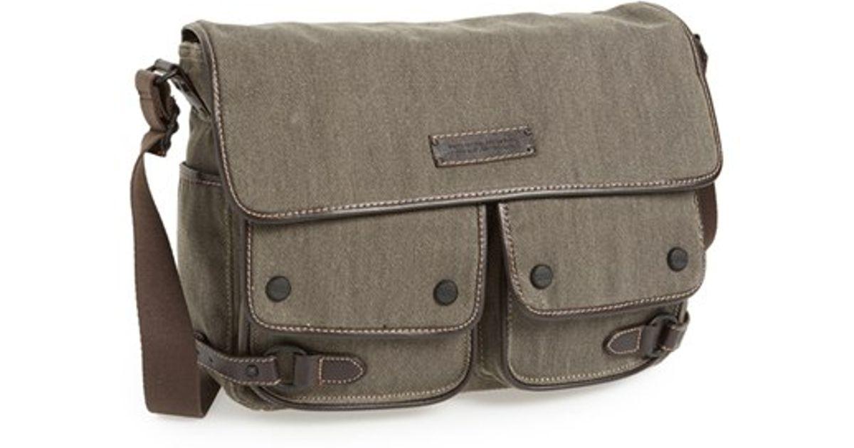 Lyst Marc New York Andrew Rivington Twill Messenger Bag In Brown For Men