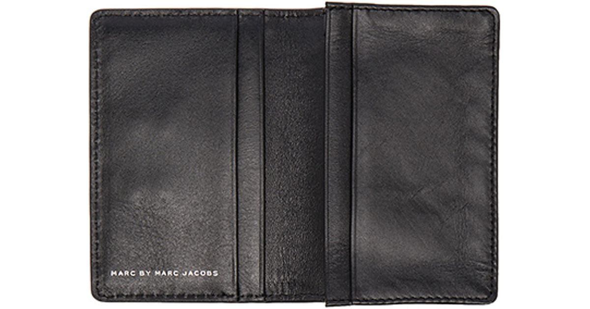 Lyst - Marc by marc jacobs Ligero Business Card Case in Black