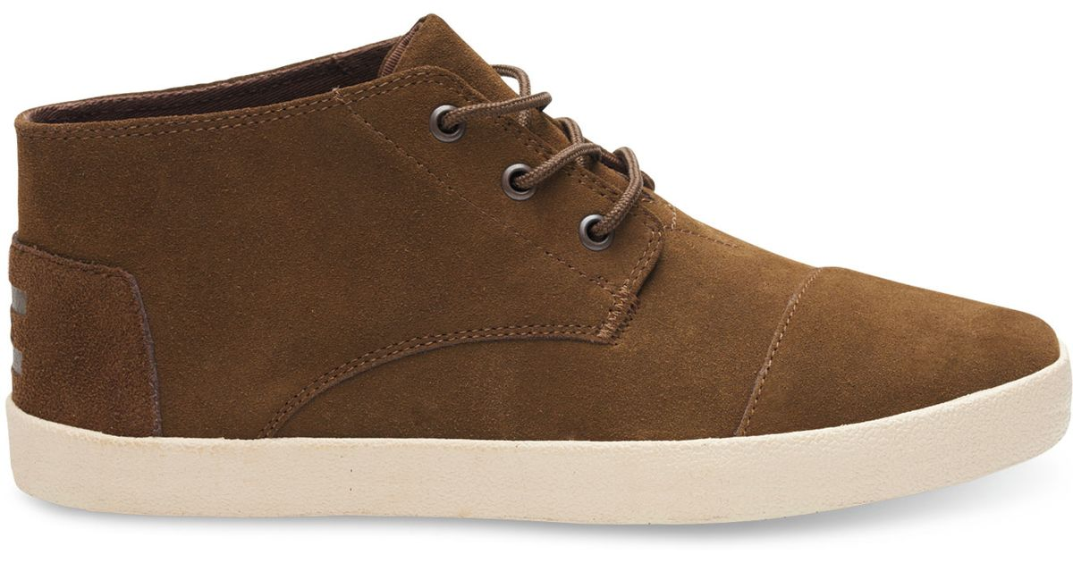 312e9670f95 Lyst - TOMS Brown Suede Men s Paseo-mids in Brown for Men