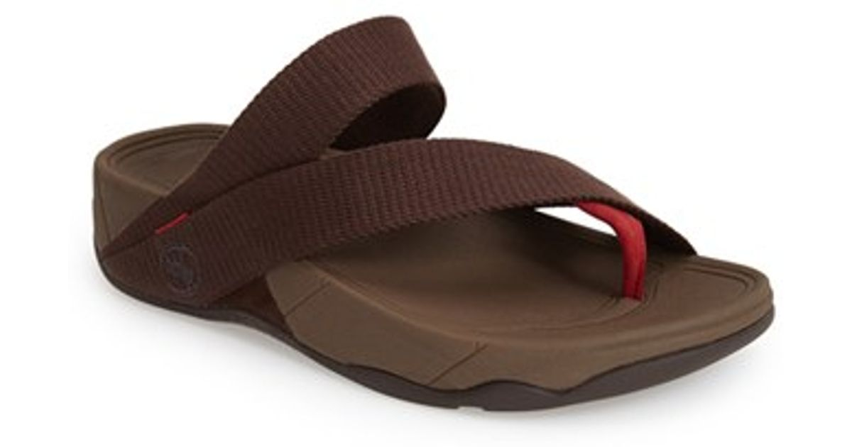 6dbbc4c31 Lyst - Fitflop  sling  Thong Sandal in Brown for Men