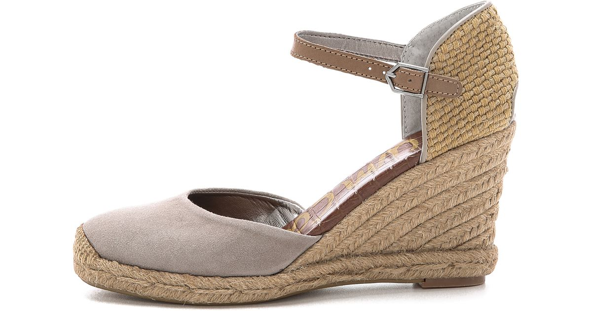 c19dc1dfa123 Lyst - Sam Edelman Harmony Espadrille Wedges - Putty in Natural