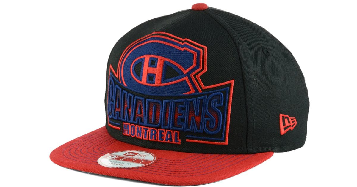 reputable site 760ae 65fda Lyst - KTZ Montreal Canadiens Grader 9fifty Snapback Cap in Red for Men