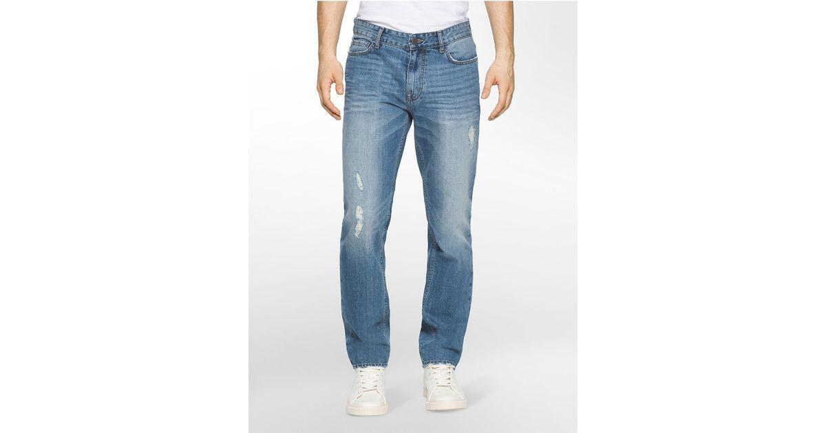 calvin klein jeans slim straight leg essential blue wash. Black Bedroom Furniture Sets. Home Design Ideas