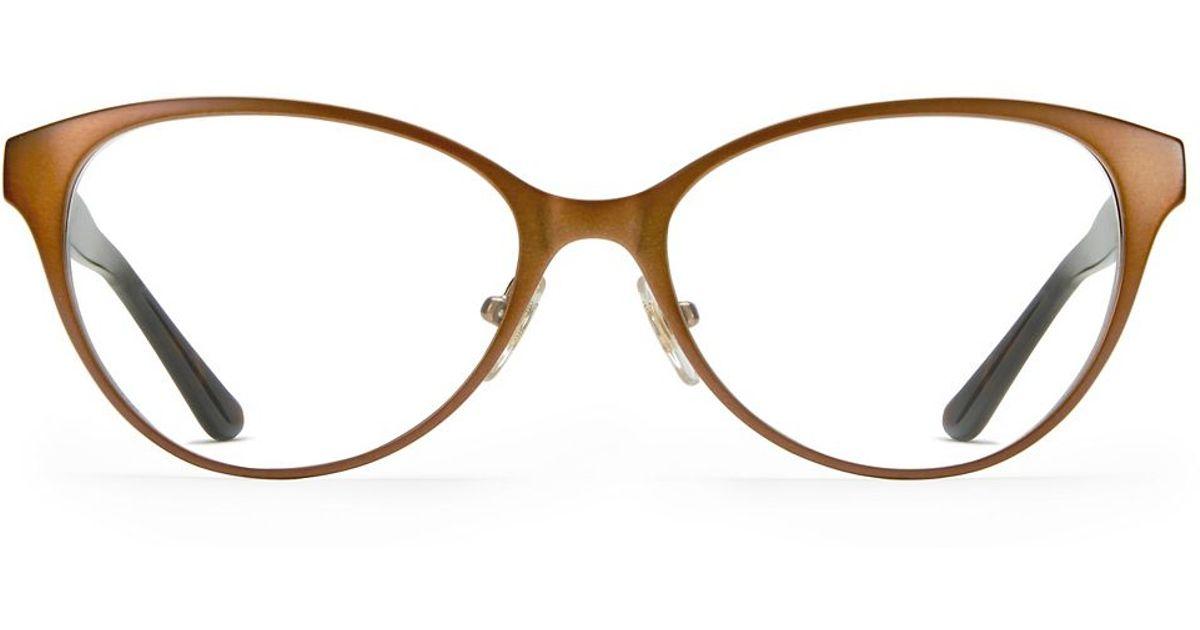 e5c504214e2 Lyst - Tory Burch Metal   Wood Eyeglasses in Brown