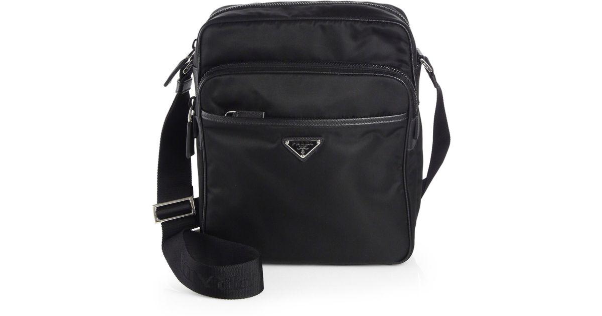 d6da7d657b9b Prada Nylon Camera Bag in Black for Men - Lyst