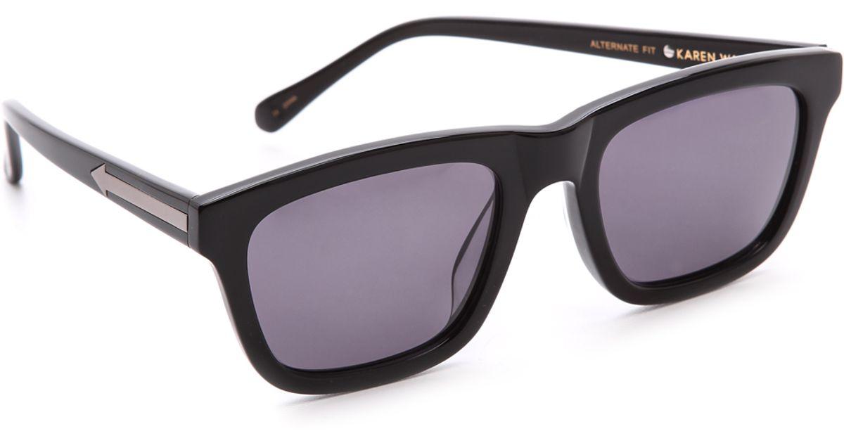 1ade022797 Karen Walker Special Fit Deep Freeze Sunglasses in Black - Lyst