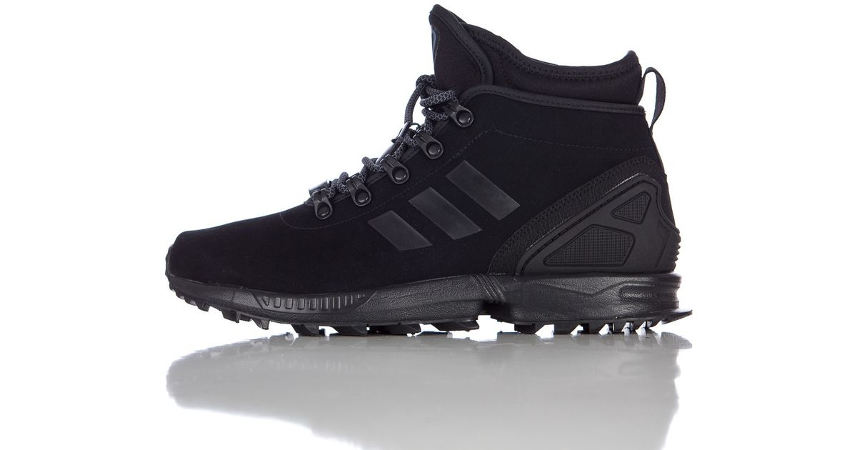 b1832cabb3c16 Lyst - adidas Zx Flux Winter Leather Boot In Core Black in Black for Men