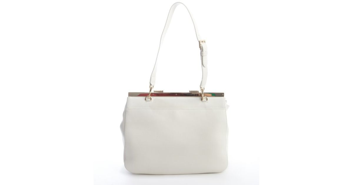 Mulberry Off White Leather 'suffolk' Convertible Shoulder Bag in ...